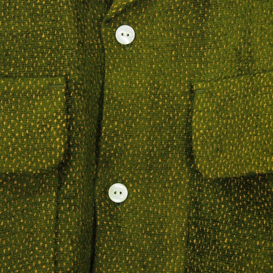 Needles ニードルズ - C.O.B. Classic Shirt カットオフボトムクラッシックシャツ -  R/Ac Dots Mole Jq. - Olive