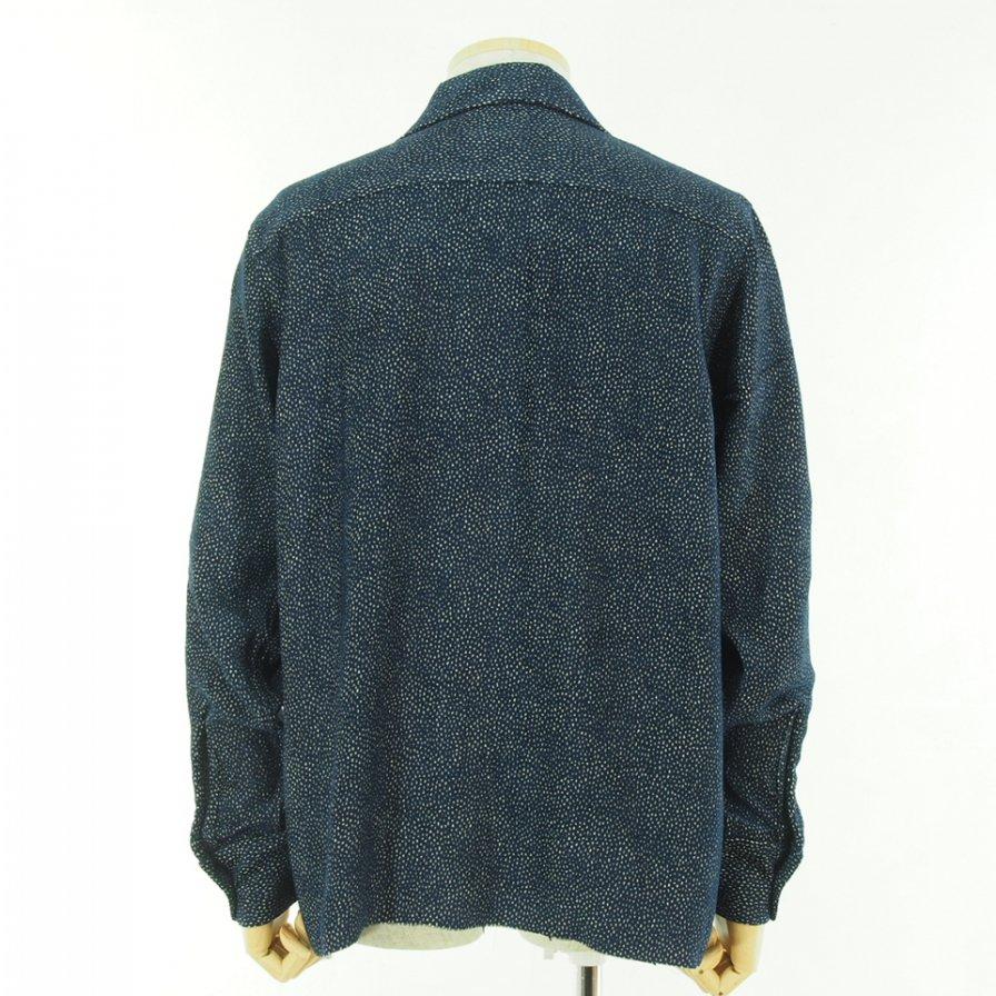Needles ニードルズ - C.O.B. Classic Shirt カットオフボトムクラッシックシャツ -  R/Ac Dots Mole Jq. - Navy