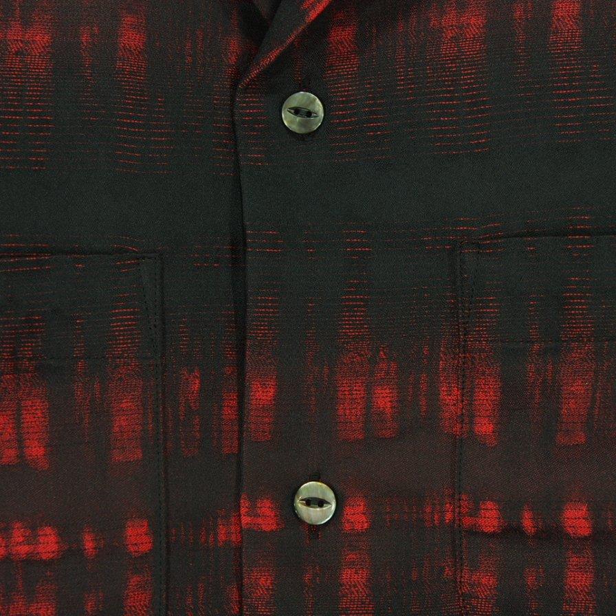 Needles ニードルズ - C.O.B. Classic Shirt カットオフボトムクラッシックシャツ -  Pe/W Ombre Plaid Jq. - Red