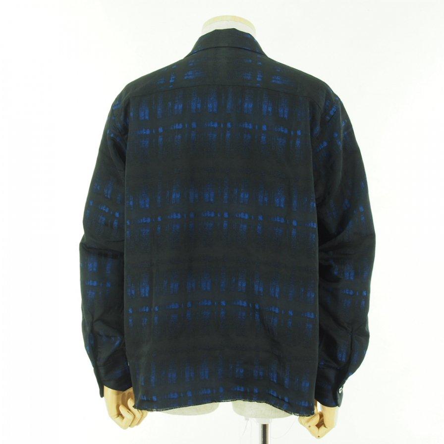 Needles ニードルズ - C.O.B. Classic Shirt カットオフボトムクラッシックシャツ -  Pe/W Ombre Plaid Jq. - Blue