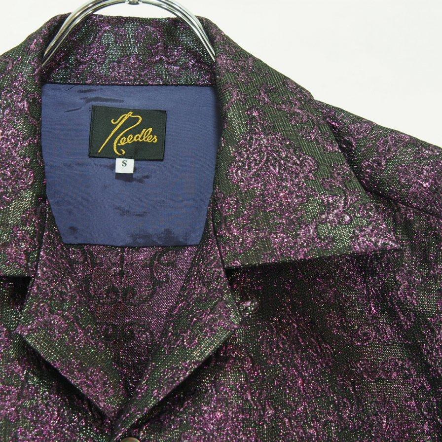 Needles ニードルズ - C.O.B. Classic Shirt カットオフボトムクラッシックシャツ -  Poly Lame Damask Jq. - Purple