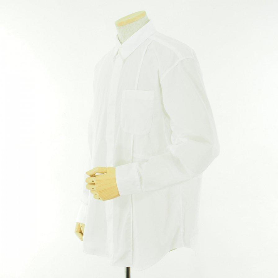 Engineered Garments エンジニアドガーメンツ - Combo Short Collar Shirt - 100'S 2Ply Broadcloth - White