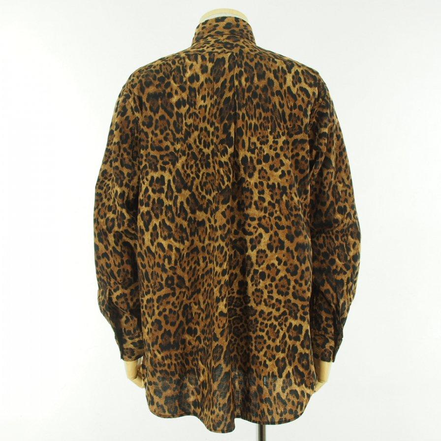 Engineered Garments エンジニアドガーメンツ - 19 Century BD Shirt ナインティーンセンチュリーボタンダウンシャツ - Cotton Leopard Print