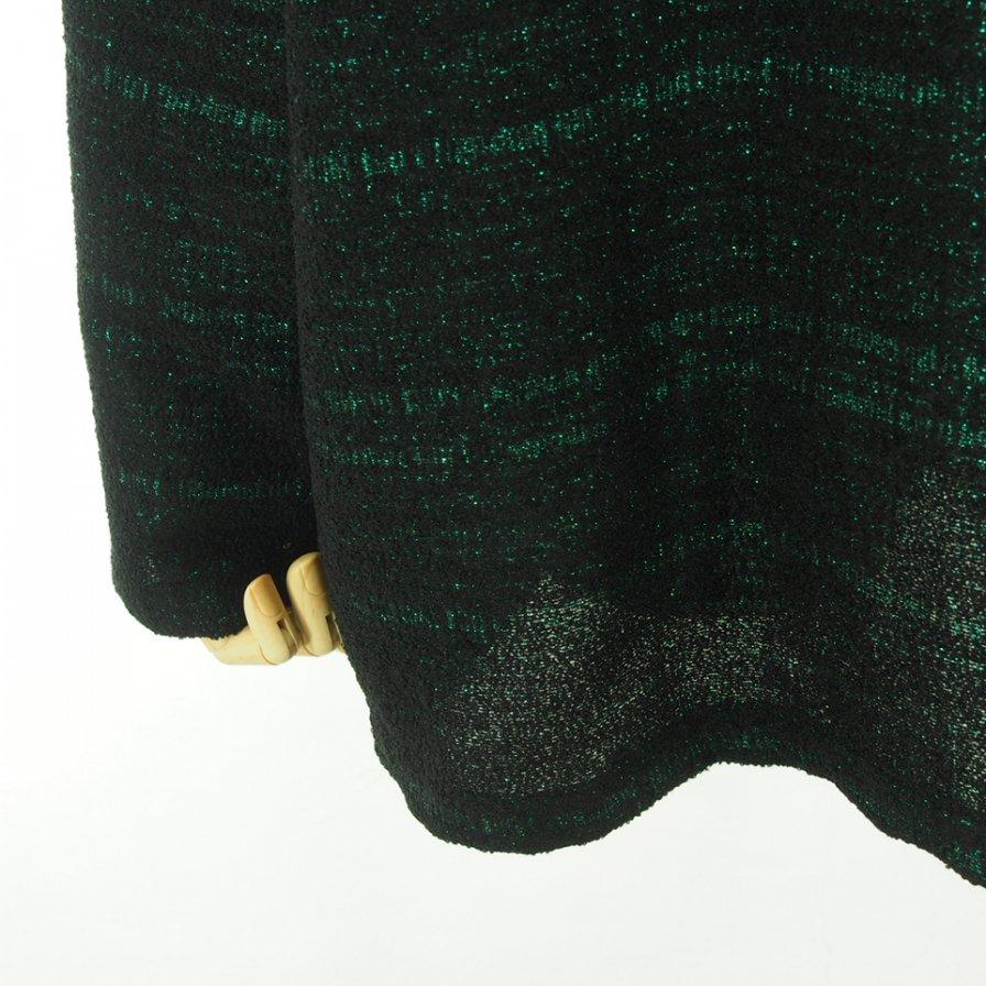 Needles ニードルズ - V Neck Cardigan ブイネックカーディガン - W/N/R/Pe Lame Cloth Jq. - Green