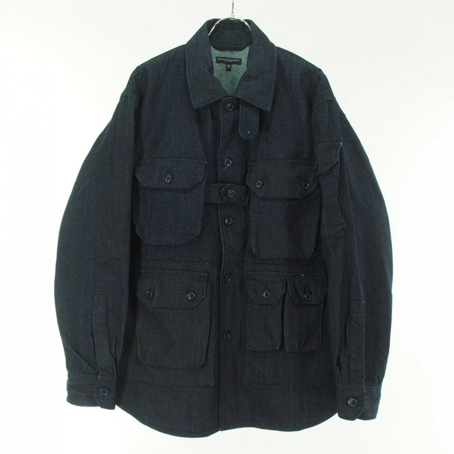 Engineered Garments エンジニアドガーメンツ - Explorer Shirt Jacket エクスプローラーシャツ - 10oz Broken Denim - Indigo