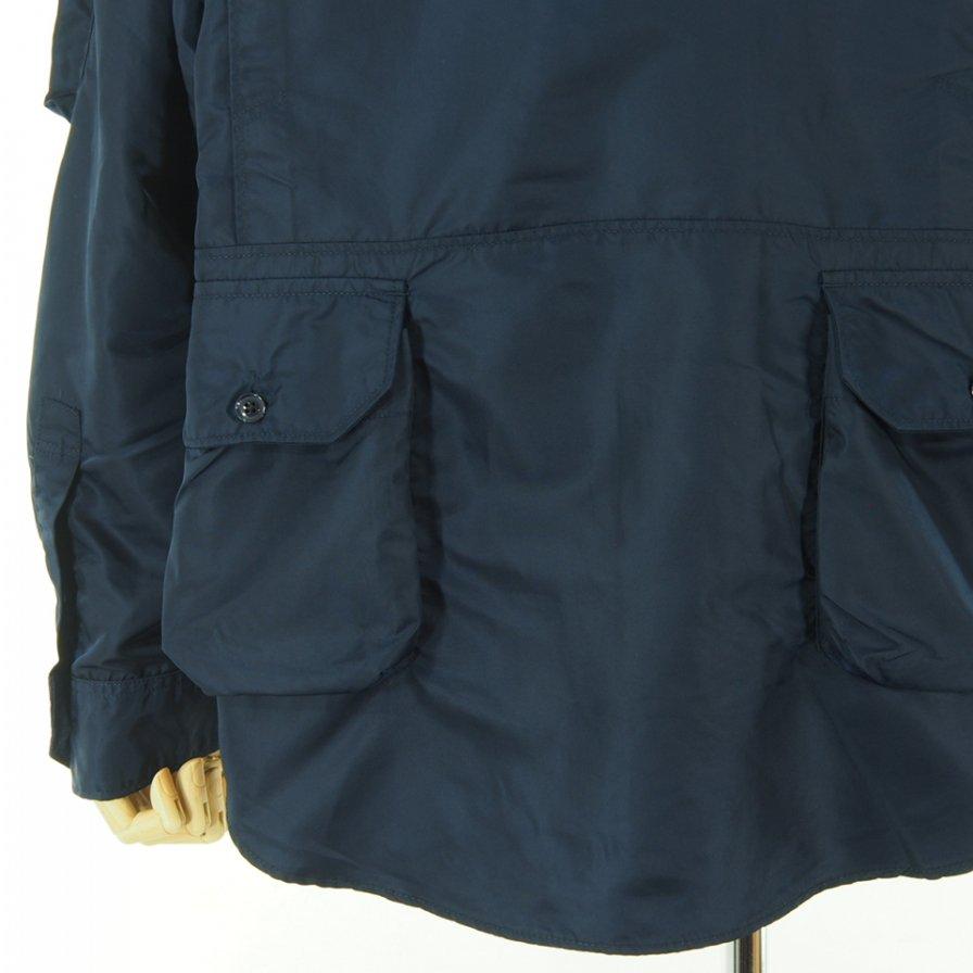 Engineered Garments エンジニアドガーメンツ - Explorer Shirt Jacket エクスプローラーシャツ - Flight Satin Nylon - Navy