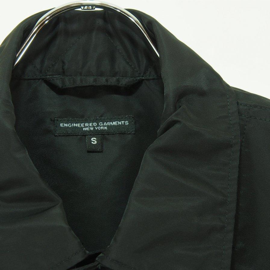 Engineered Garments エンジニアドガーメンツ - Explorer Shirt Jacket エクスプローラーシャツ - Flight Satin Nylon - Black