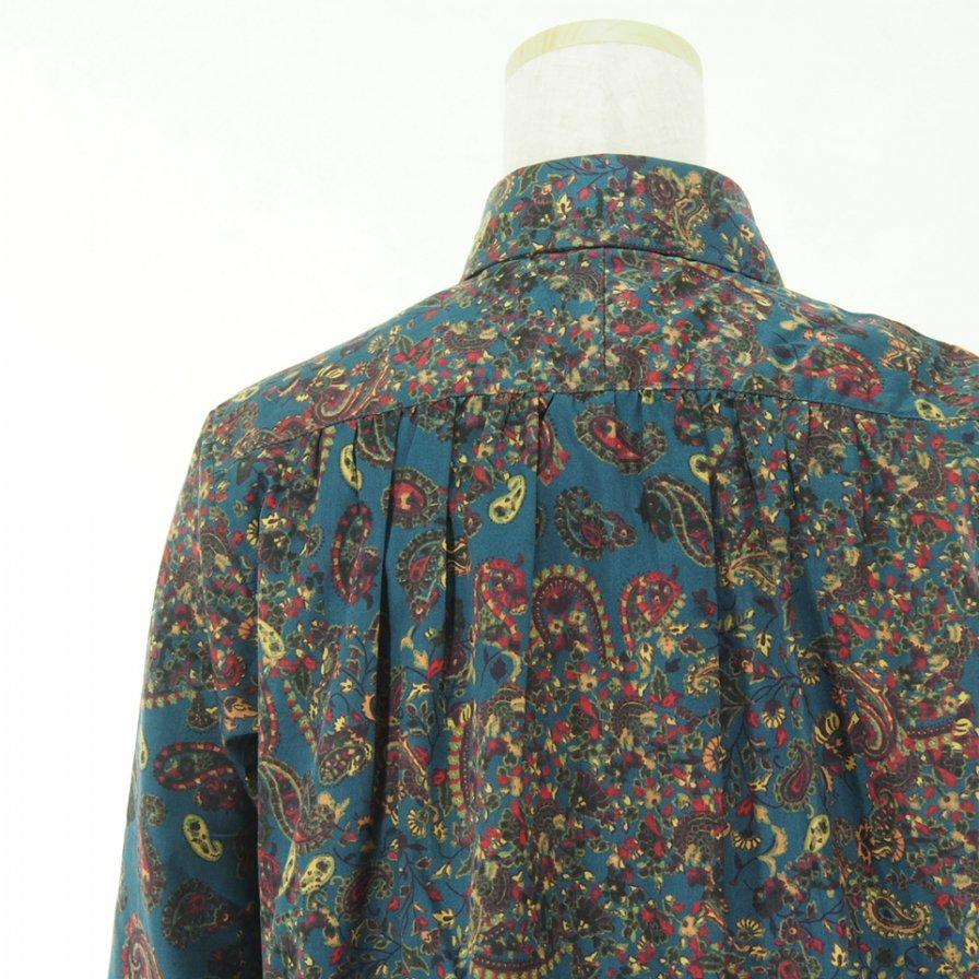 Needles Woman ニードルズウォメン - Pinhole EDW Shirt ピンホールエドワードシャツ - Cotton Sateen / Paisley Pt. - Blue