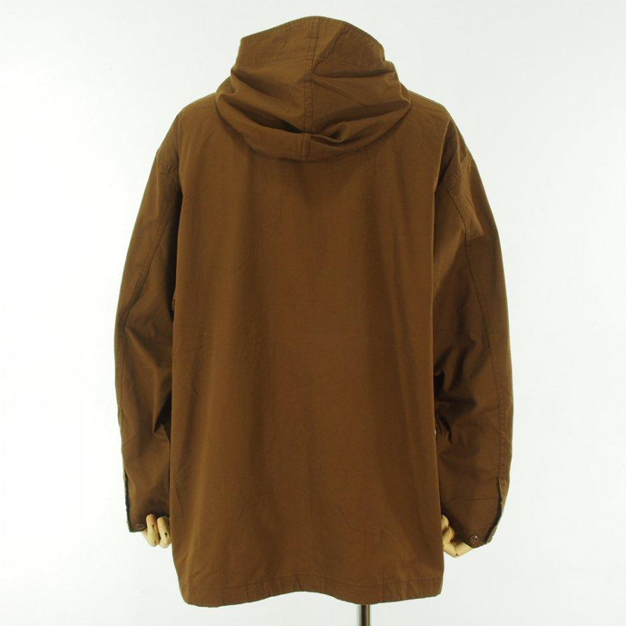 Engineered Garments エンジニアドガーメンツ - Cagoule Shirt カグールシャツ -  Cotton Micro Sanded Twill - Brown