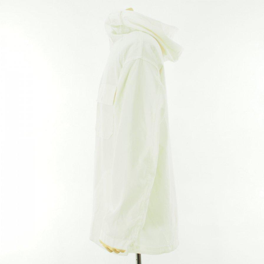 Engineered Garments エンジニアドガーメンツ - Cagoule Shirt カグールシャツ -  Cotton Micro Sanded Twill - Ivory