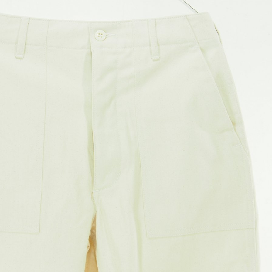 EG WORKADAY イージーワーカデイ - Fatigue Pant ファティーグパンツ - Cotton Herringbone Twill コットンヘリンボーンツイル - Natural