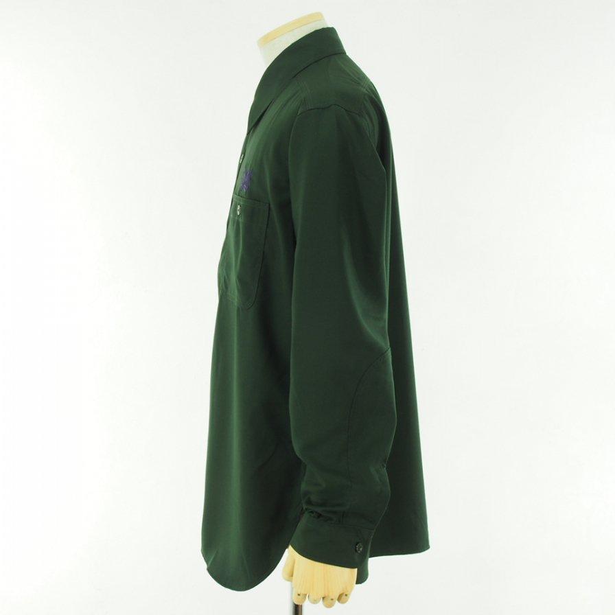 Needles ニードルズ - Work Shirt ワークシャツ - Pe/R Gabardine - Green