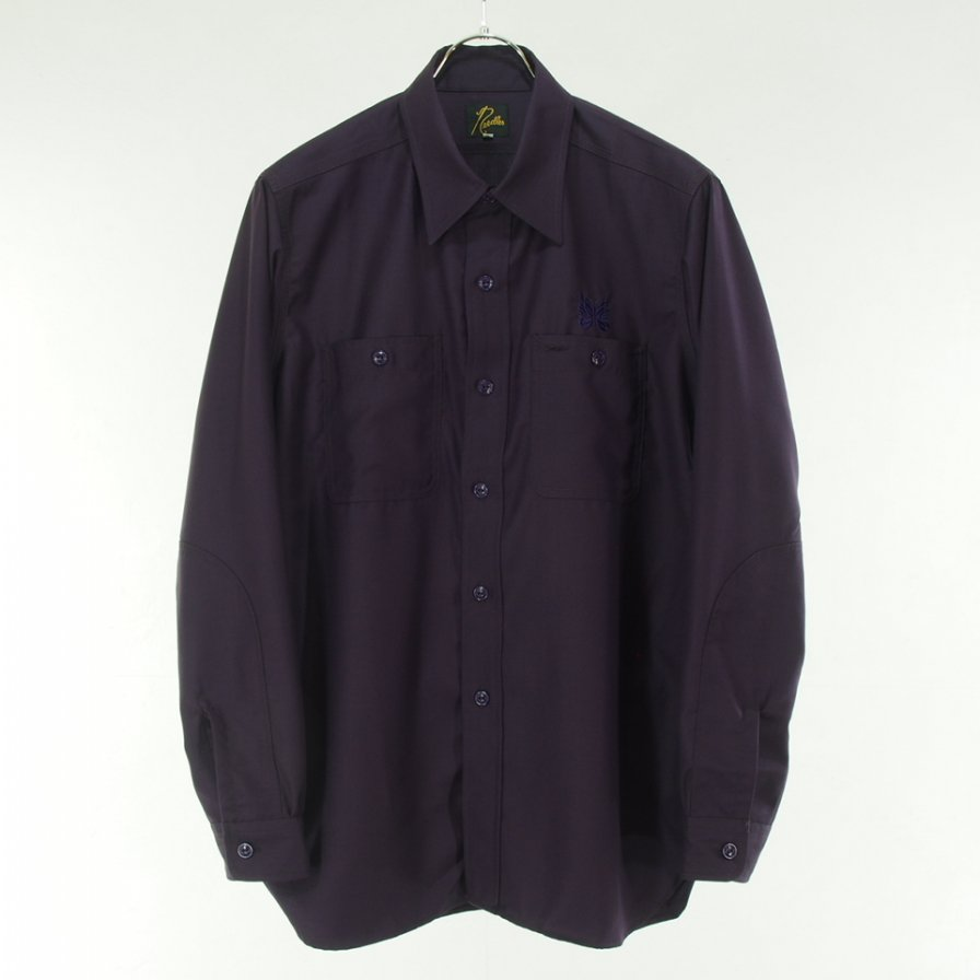Needles ニードルズ - Work Shirt ワークシャツ - Pe/R Gabardine - Purple