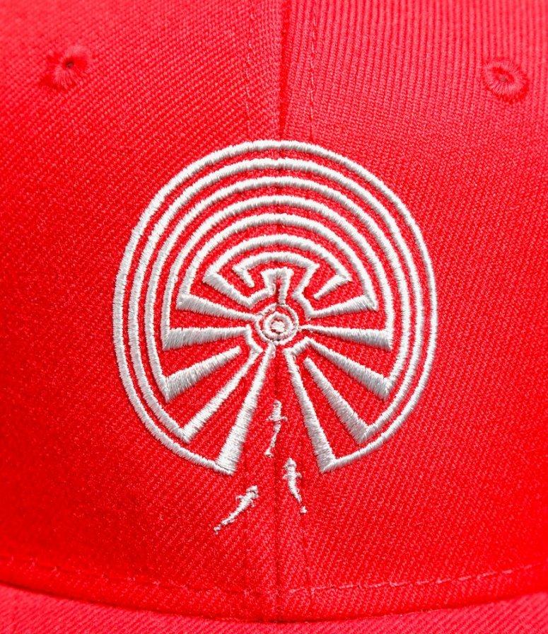 South2 West8 サウスツーウエストエイト - Baseball Cap ベースボールキャップ - Maze Emb. - Red