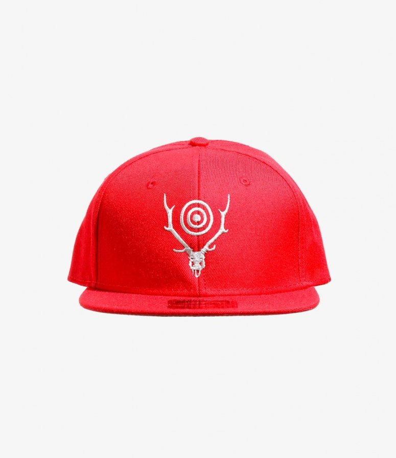 South2 West8 サウスツーウエストエイト - Baseball Cap ベースボールキャップ - S&T Emb. - Red
