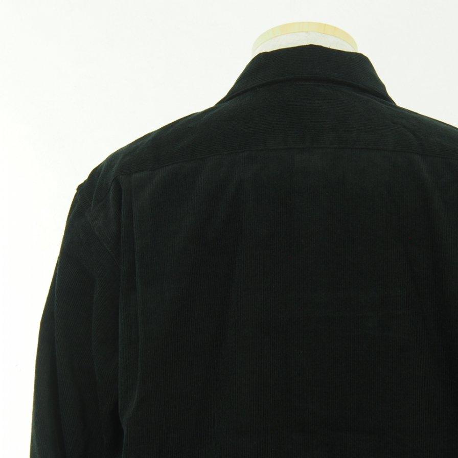 Engineered Garments エンジニアドガーメンツ - Classic Shirt -  Cotton 14W Corduroy - Black