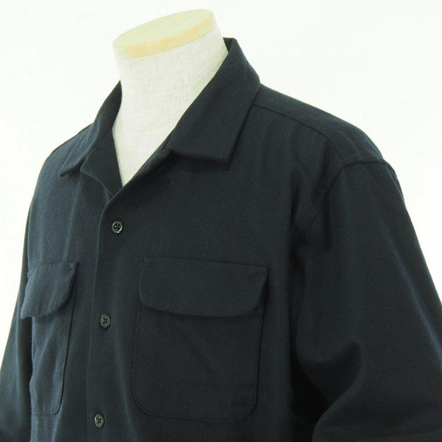Engineered Garments エンジニアドガーメンツ - Classic Shirt クラッシックシャツ -  Wool Cotton Flannel - Dk.Navy