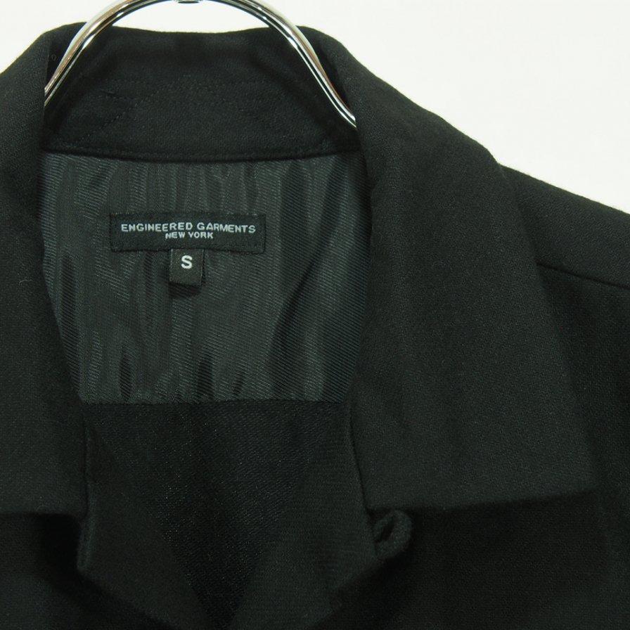 Engineered Garments エンジニアドガーメンツ - Classic Shirt クラッシックシャツ -  Wool Cotton Flannel - Black
