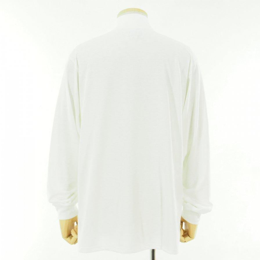 Needles ニードルズ - L/S Mock Neck Tee ロングスリーブモックネックティー - Poly Jersey - White