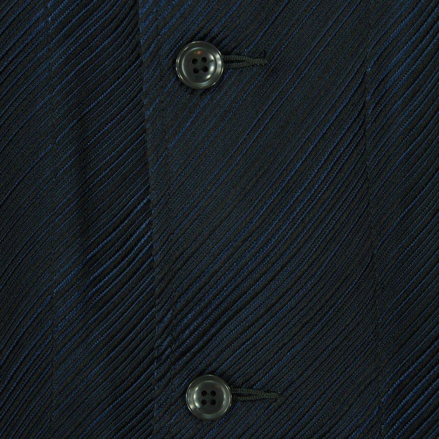 Needles ニードルズ - L/S Cabana Shirt ロングスリーブカバナシャツ - Ac/Pe Kersey Jq. - Navy
