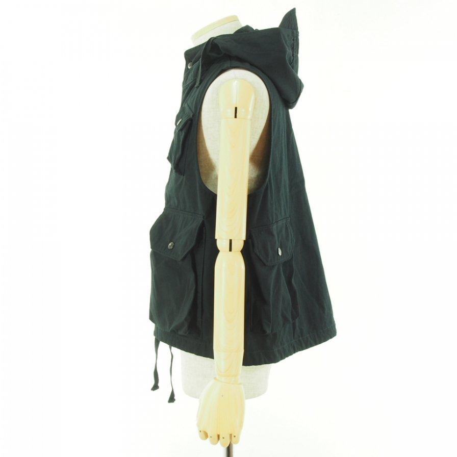Engineered Garments - Field Vest フィールドベスト - Heavyweight Cotton Ripstop - Black