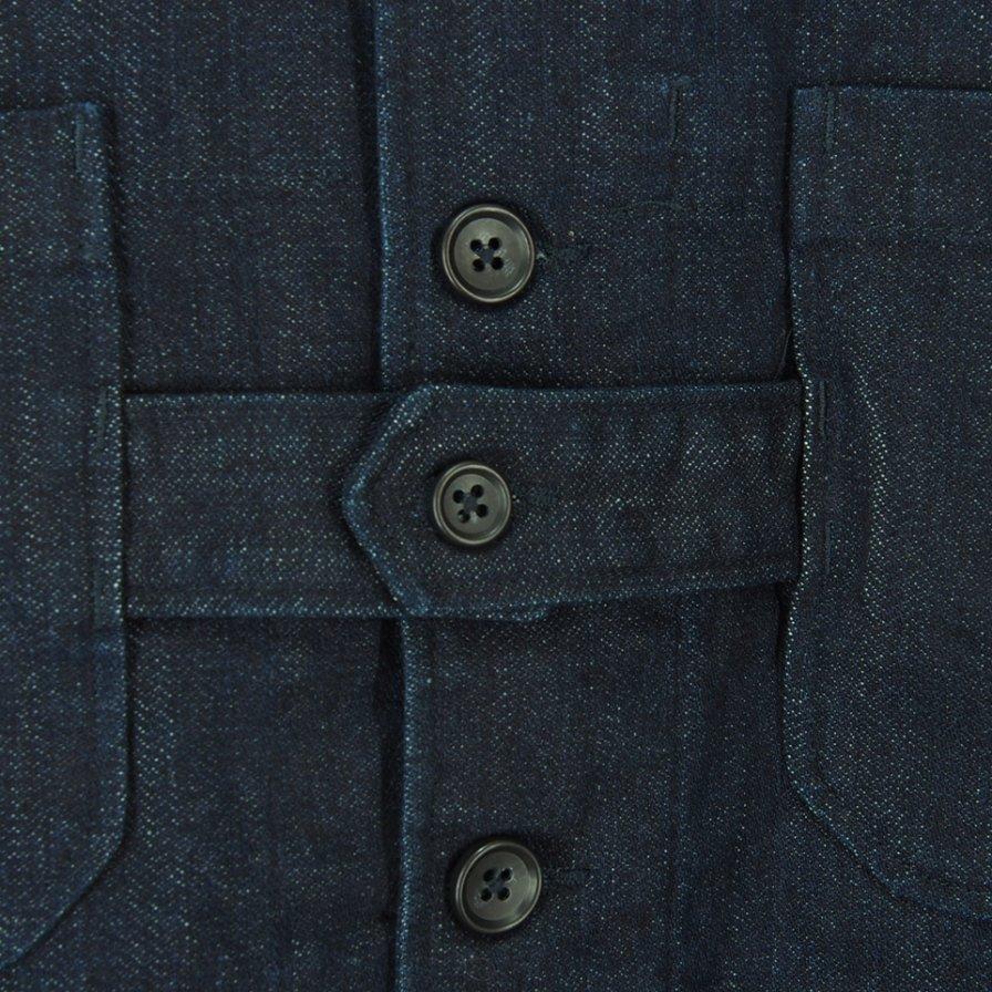 Engineered Garments エンジニアドガーメンツ - Cardigan Jacket カーディガンジャケット - 10oz Broken Denim - Indigo