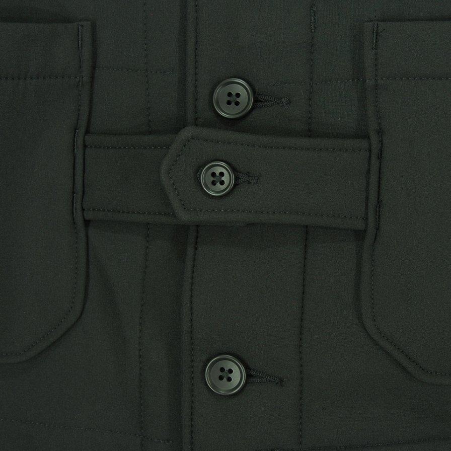 Engineered Garments エンジニアドガーメンツ - Cardigan Jacket カーディガンジャケット - Polyester Fleece -Black