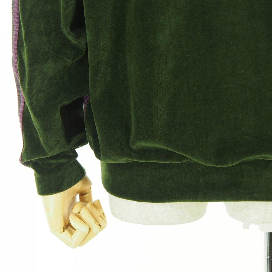 Needles ニードルズ - R.C. Track Jacket リブカラートラックジャケット - C/Pe Velour - Green
