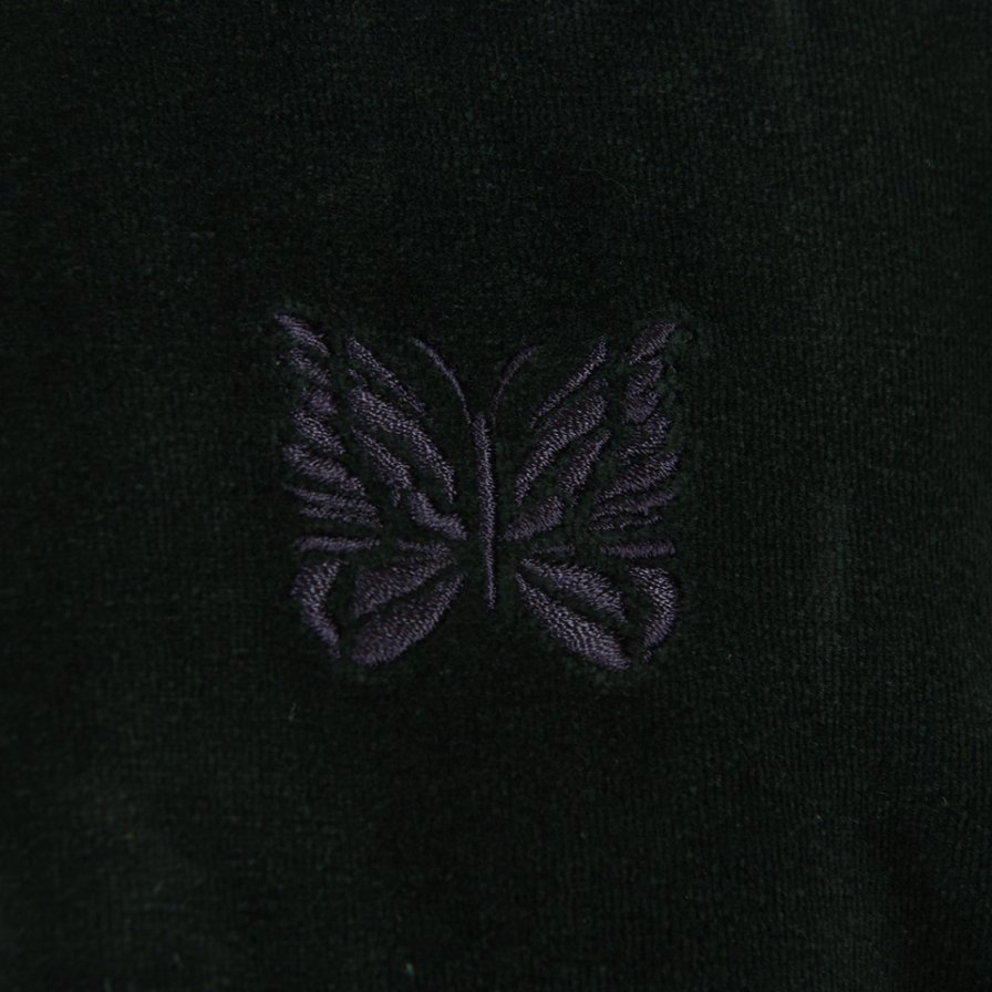 Needles ニードルズ - R.C. Track Jacket リブカラートラックジャケット - C/Pe Velour - Black