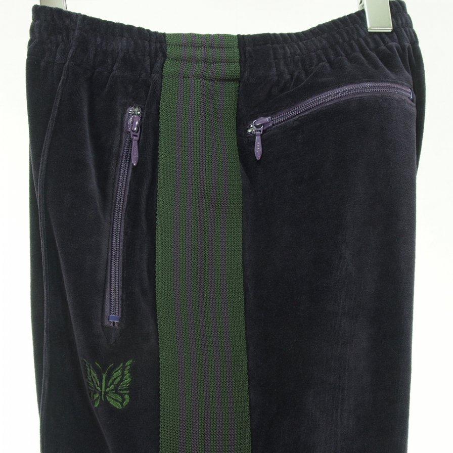 Needles ニードルズ - Narrow Track Pant ナロートラックパンツ - C/Pe Velour - Eggplant