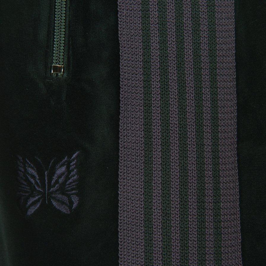 Needles ニードルズ - Narrow Track Pant ナロートラックパンツ - C/Pe Velour - Black