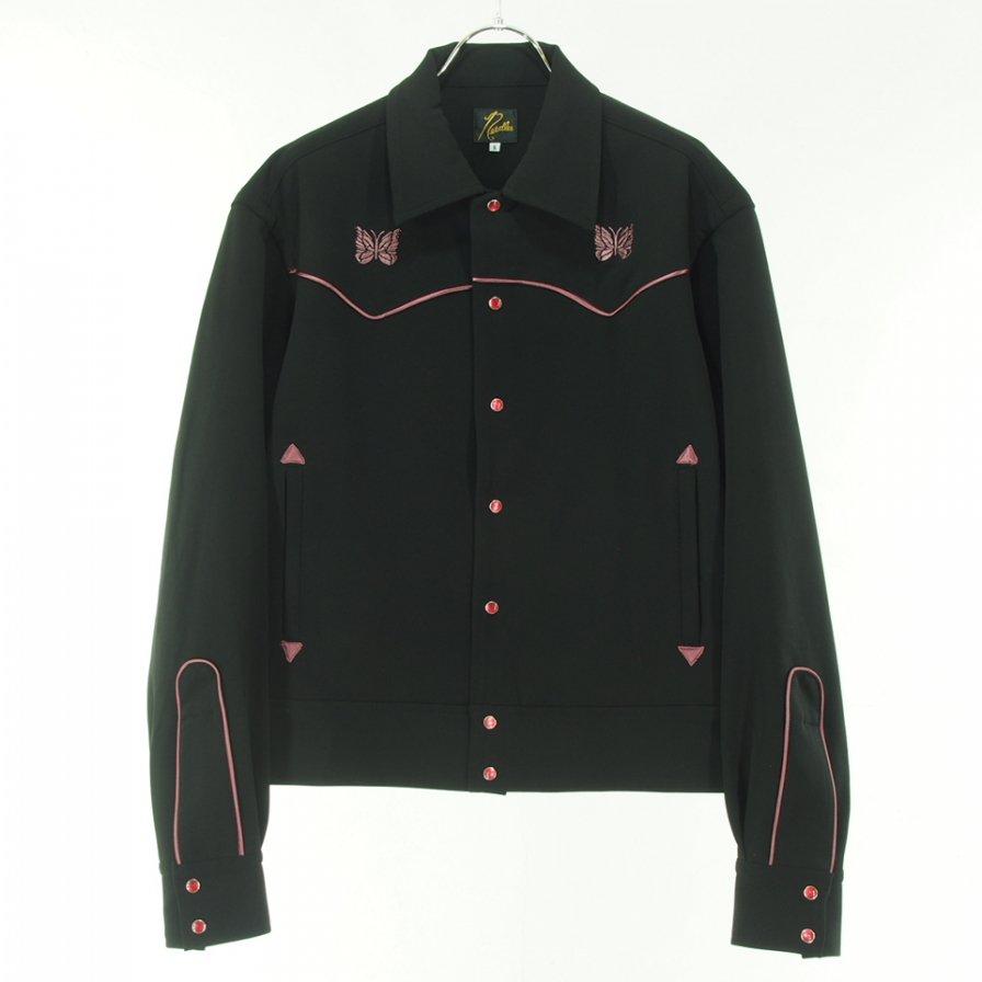 Needles ニードルズ - Piping Cowboy Jac パイピングカーボーイジャケット - Pe/R/Pu Double cloth  - Black