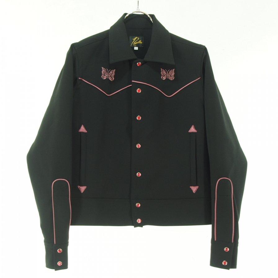 Needles Woman  ニードルズウォメン - Piping Cowboy Jac パイピングカーボーイジャケット - Pe/R/Pu Double cloth - Black