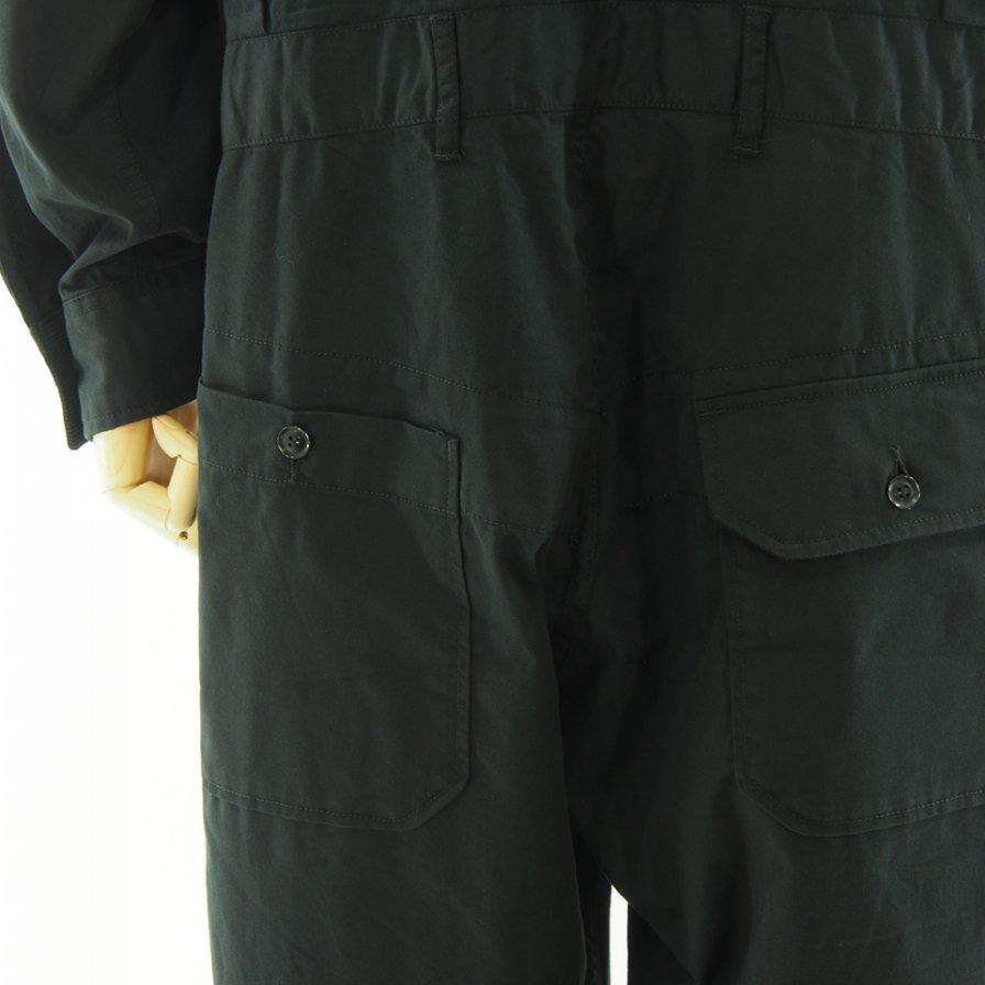 Engineered Garments エンジニアドガーメンツ - Racing Suit レーシングスーツ - Micro Sanded Twill - Black