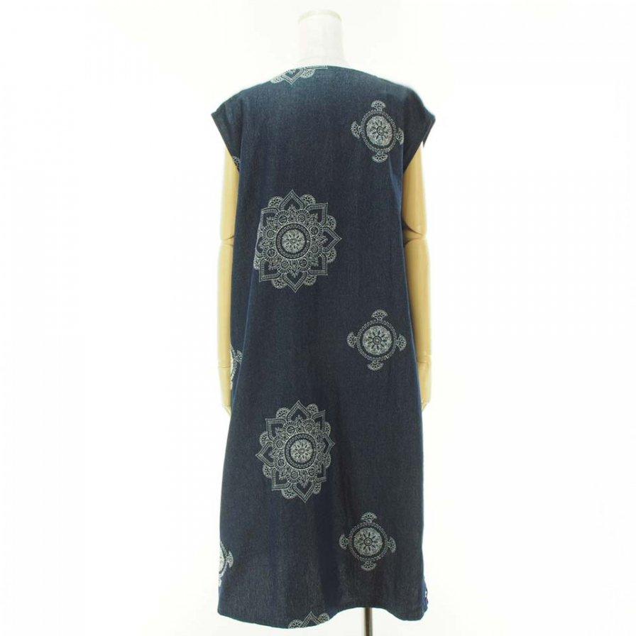 Engineered Garments Woman エンジニアドガーメンツウォメン - Floral Crest Embroidery Denim - Indigo