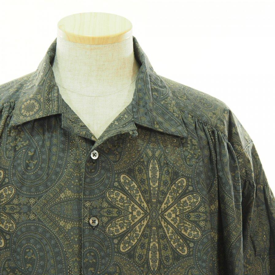 AiE エーアイイー - Painter Shirt ペインターシャツ - Cotton Big Paisley - Charcoal