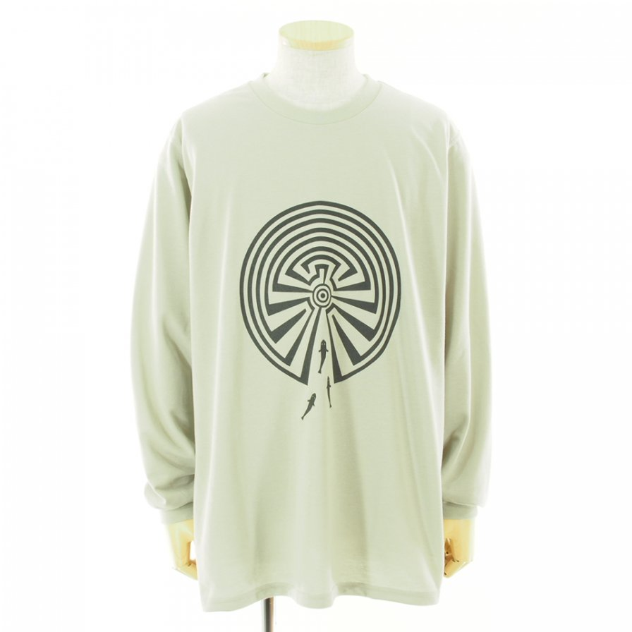 South2 West8 サウスツーウエストエイト - L/S Crew Neck Tee - MAZE - Grey