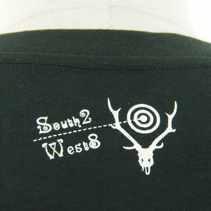 South2 West8 サウスツーウエストエイト - L/S Crew Neck Tee - MAZE - Black