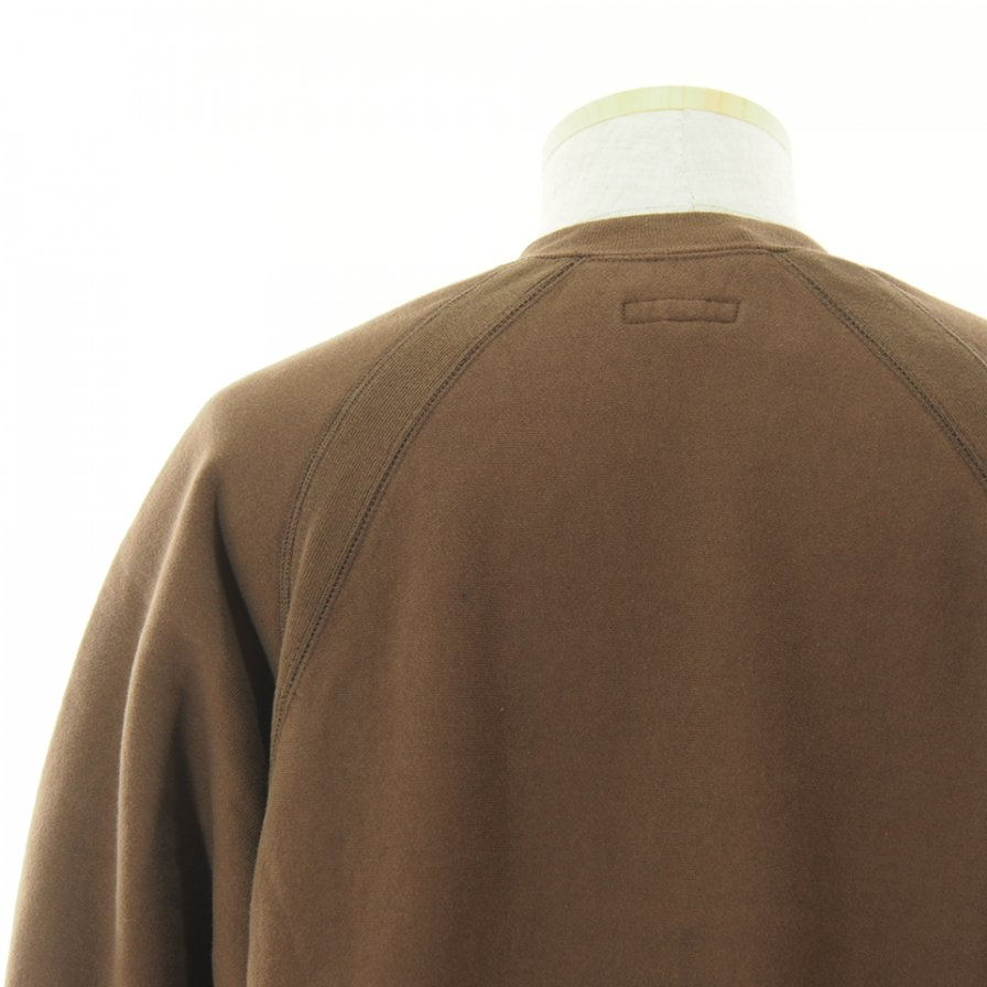 Engineered Garments エンジンニアドガーメンツ - Raglan Crew ラグランクルー - Cotton Heavy Fleece - Brown