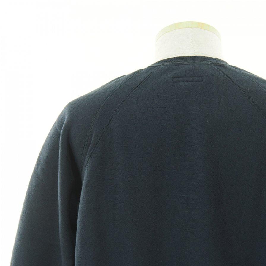 Engineered Garments エンジンニアドガーメンツ - Raglan Crew ラグランクルー - Cotton Heavy Fleece - Navy