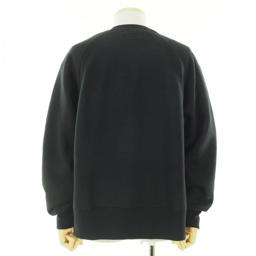 Engineered Garments エンジンニアドガーメンツ - Raglan Crew ラグランクルー - Cotton Heavy Fleece - Black