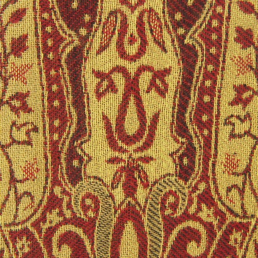 South2 West8 サウスツーウエストエイト - Pen Jacket ペンジャケット - India Jacquard - Gold / Bordeaux
