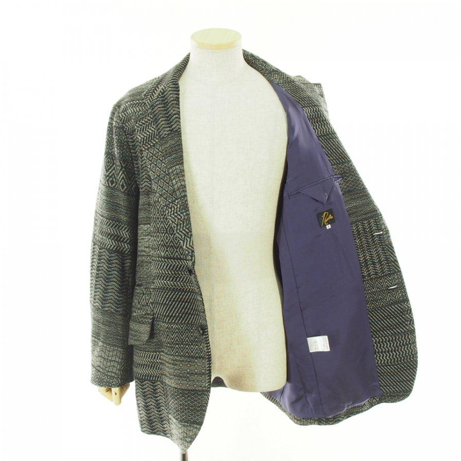 Needles ニードルズ - 2B Jacket ツービージャケット - W/N Multi Pattern Jq. - Charcoal