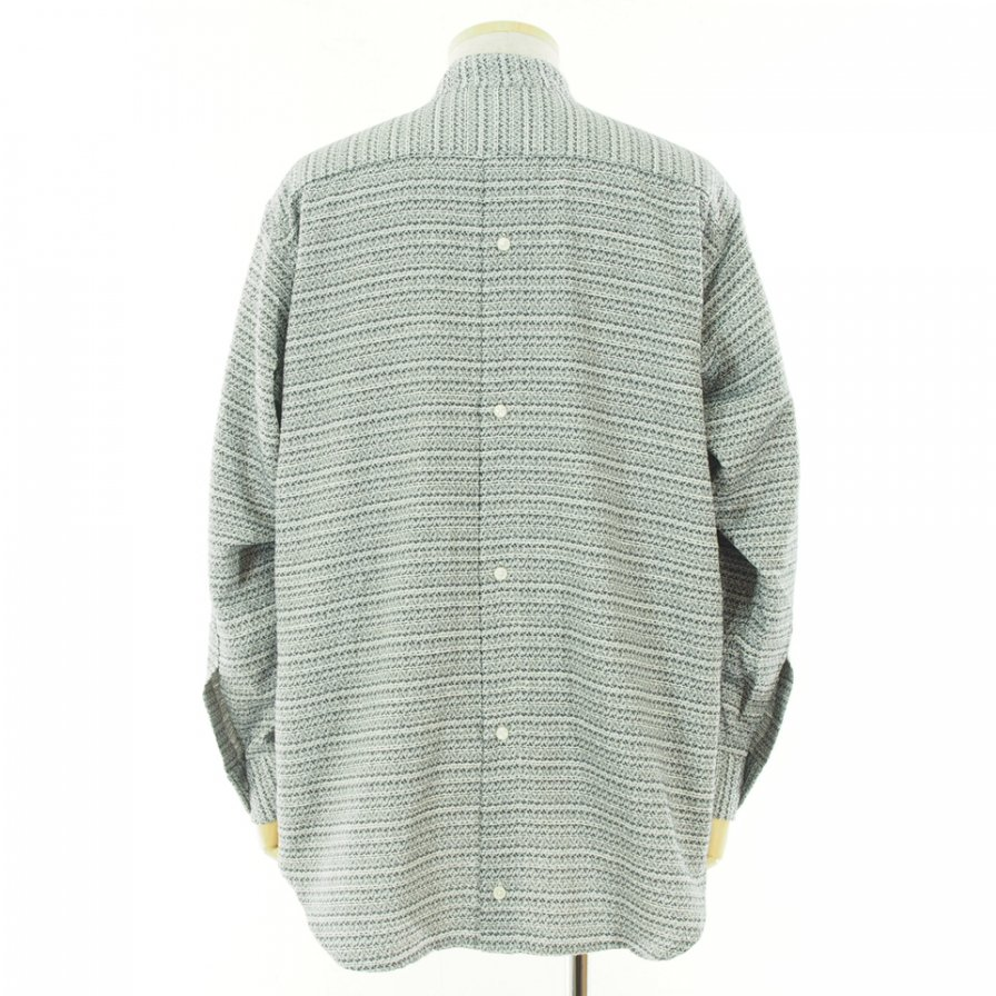 RANDT アールアンドティ - RT Shirt アールティーシャツ - Shiny Fine Jacquard - Silver