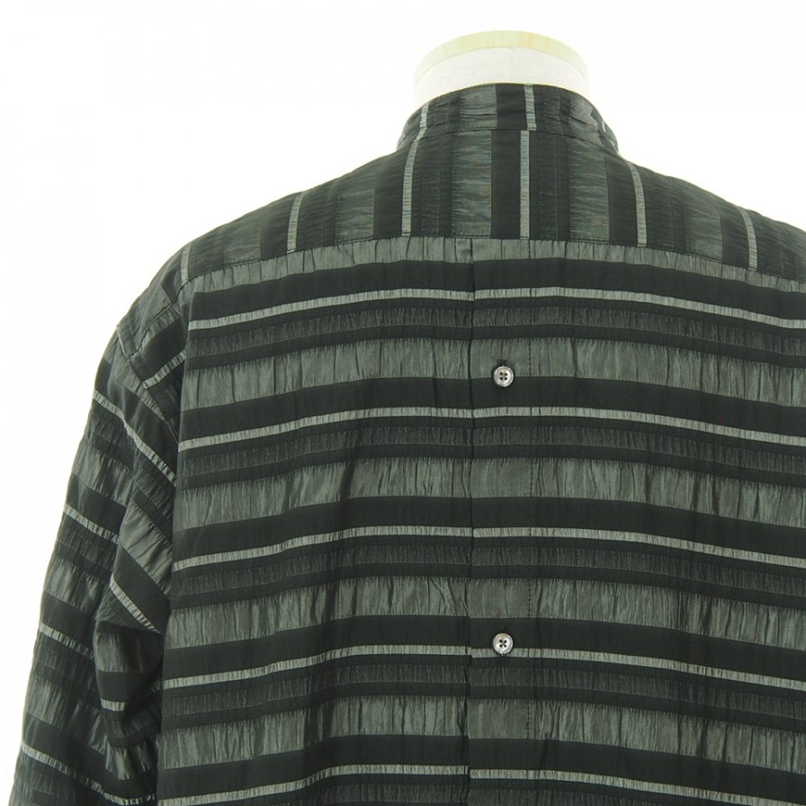 RANDT アールアンドティ - RT Shirt アールティーシャツ - Crinkle Stripe - Black / Grey