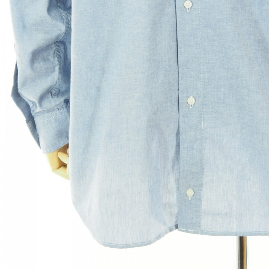RANDT アールアンドティ - RT Shirt アールティーシャツ - Cotton Chambray - Blue
