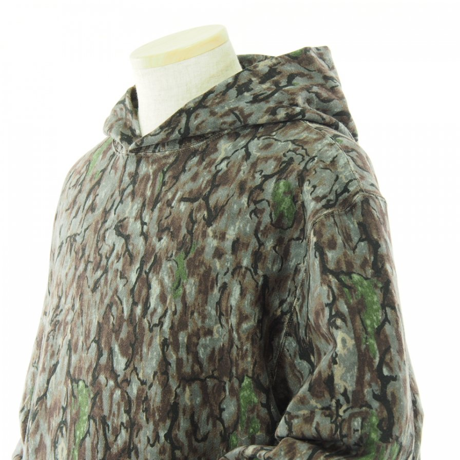 South2 West8 サウスツーウエストエイト - Classic Hoody - Cotton Jersey / Horn Camo Pt. - Grey