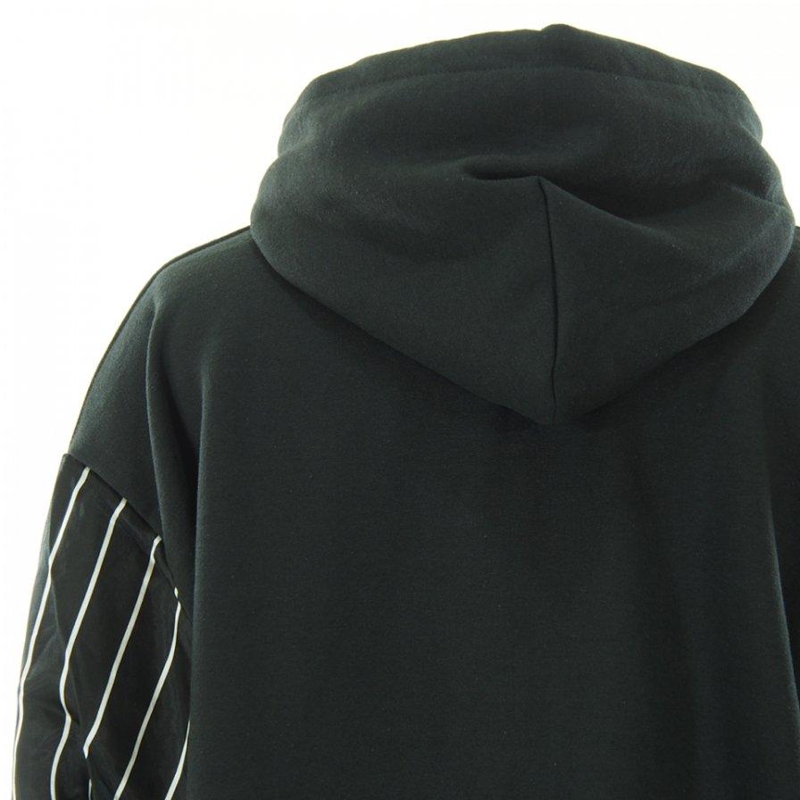 NOMA t.d. ノーマティーディー - Stripe Sleeve Parka ストライプスリーブパーカー - Black