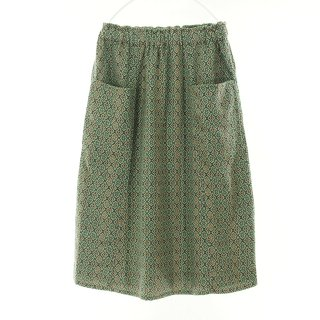 South2 West8 Woman サウスツーウエストエイトウォメン - Army String Skirt - India Dobby - Faun Pattern