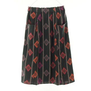South2 West8 Woman サウスツーウエストエイトウォメン - Army String Skirt - India Dobby - Diamond & Target